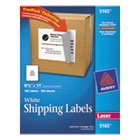 Shipping Labels with TrueBlock Technology, 8-1/2 x 11, White, 100/Box AVE5165