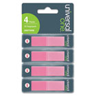 Pop-Up Page Flags, 1/2 x 1-7/10, Pink, 140 per Pack UNV74006