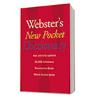 Webster's New Pocket Dictionary, Paperback, 336 Pages HOU1019934