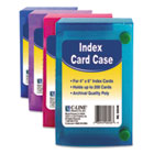 Index Card Case, Holds 200 4 x 6 Cards, Polypropylene, Assorted CLI58046