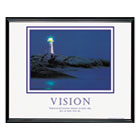 """Vision Lighthouse"" Framed Motivational Print, 30 x 24 AVT78018"