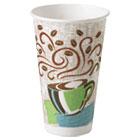 Hot Cups, Paper, 16oz, Coffee Dreams Design, 50/Pack DXE5356CD