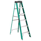 #592 Six-Foot Folding Fiberglass Step Ladder, Green/Black DADFS4006