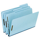 Two-Fastener Pressboard Expanding Folder with 1/3 Cut Tab, Legal, Blue, 25/Box ESSFP313