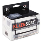 Kleen & Dry Screen Cleaner Wet Wipes, Cloth, 5 x 5, 14/Box REARR1205
