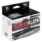 ScreenKleen Alcohol-Free Wipes, Cloth, 5 x 5, 14/Box REARR1291