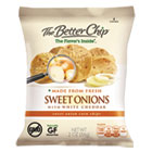 Corn Chips, Sweet Onions with White Cheddar, 2oz Bag, 18/Box OFX55925