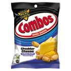 Combos Baked Snacks, 6.3 oz Bag, Cheddar Cheese Cracker, 12/Carton CBO42007