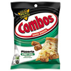 Combos Baked Snacks, 6.3 oz Bag, Pizzeria Pretzel, 12/Carton CBO42006