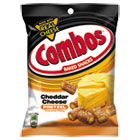 Combos Baked Snacks, 6.3 oz Bag, Cheddar Cheese Pretzel, 12/Carton CBO42005