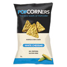 Popcorners Popped-Corn Chips, White Cheddar, 5oz Bag, 12/Carton MED09