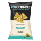 Popcorners Popped-Corn Chips, Sea Salt, 5oz Bag, 12/Carton MED10
