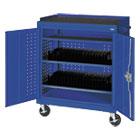 Mobile Tablet Storage Cart, 36w x 24d x 43h, Blue METMTS36243706
