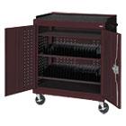 Mobile Tablet Storage Cart, 36w x 24d x 43h, Burgundy METMTS36243703