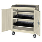Mobile Tablet Storage Cart, 36w x 24d x 43h, Putty METMTS36243707