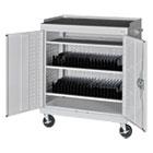 Mobile Tablet Storage Cart, 36w x 24d x 43h, Light Gray METMTS36243705