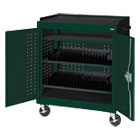 Mobile Tablet Storage Cart, 36w x 24d x 43h, Forest Green METMTS36243708