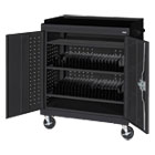Mobile Tablet Storage Cart, 36w x 24d x 43h, Black METMTS36243709