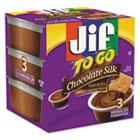 Jif To Go, Creamy Chocolate Silk, 1.5 oz Cup, 8/Box SMU24112