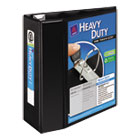 """Heavy-Duty View Binder with One Touch EZD Rings, 5"""" Capacity, Black AVE79606"""