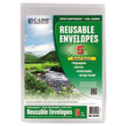 Reusable Poly Envelope, Hook and Loop Closure, 9 1/4 x 12 4/5, Clear CLI35107