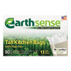 Recycled Can Liners, 13gal, .7mil, 23.5 x 29.75, White, 90 Bags/Box WBIGES6FK90