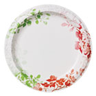 "Modern Romance Heavyweight Plates, 8 1/2"" Dia, White/Red/Green, 276/Carton DXE827261"