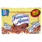 Famous Amos Cookies, Chocolate Chip, 2 oz Snack Pack, 42 Packs/Carton KEB827554