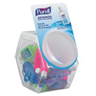 Advanced Instant Hand Sanitizer Gel, Jelly Wrap Bracelet 1 oz Bottle, 25/Bowl GOJ390025BWL