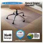 Natural Origins Chair Mat For Carpet, 36 x 48, Clear ESR141028