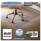 Natural Origins Chair Mat for Carpet, 46 x 60, Clear ESR141052