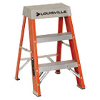 "Fiberglass Heavy Duty Step Ladder, 28.28"", Orange, 2 Steps DADFS1502"