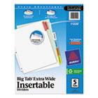 Insertable Big Tab Dividers, 5-Tab, 11 1/8 x 9 1/4 AVE11220