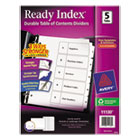 Ready Index Customizable Table of Contents Black & White Dividers, 5-Tab, Letter AVE11130