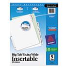 Insertable Big Tab Dividers, 5-Tab, 11 1/8 x 9 1/4 AVE11221