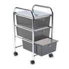 Portable Drawer Organizer, 15-1/2w x 13d x 27h, Smoke/Chrome AVT34006