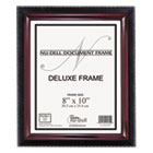 Executive Document Frame, Plastic, 8 x 10, Black/Mahogany NUD17401