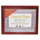 Executive Plaque, Plastic, 13 x 10-1/2, Mahogany NUD18853M