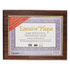 Executive Plaque, Plastic, 13 x 10-1/2, Walnut NUD18851M