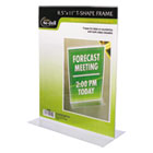 Clear Plastic Sign Holder, Stand-Up, 8 1/2 x 11 NUD38020Z