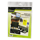 Clear Plastic Sign Holder, All-Purpose, 8 1/2 x 11 NUD37085Z