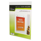 Clear Plastic Sign Holder, Wall Mount, 8 1/2 x 11 NUD38011Z