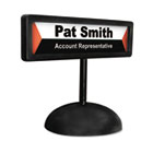 People Pointer Desktop Sign, w/Nameplate, Plastic, 9 x 3, Black AVT83708