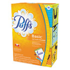 Puffs Basic Facial Tissue, 2 Ply, 8.4x8.2 in, 180 sht/bx, 3 bx/pk PGC84381