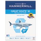 Great White Recycled Copy Paper, 92 Brightness, 20lb, 8-1/2 x 11, 5000 Shts/Ctn HAM86700