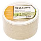 "Conserve Sugar Cane Salad Plate, 7"" dia, White, 85/Pack BAU10211"