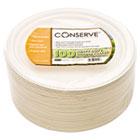 "Conserve Sugar Cane Plate, 9"" dia, White, 100/Pack BAU10212"