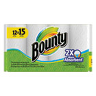 Bounty Kitchen Roll Paper Towels, 2 Ply, 11 x 11 in, White, 55 sht/rl, 12 rl/pk PGC88197