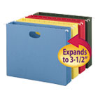 """3"""" Capacity Hanging File Pockets, Letter, Assorted Colors, 4/Pack SMD64290"""