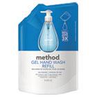 Refill for Gel Handwash, 34oz Plastic Pouch, Sea Minerals MTH00653